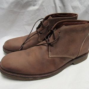 Johnston & Murphy Mens Copeland Chukka Brown Boots